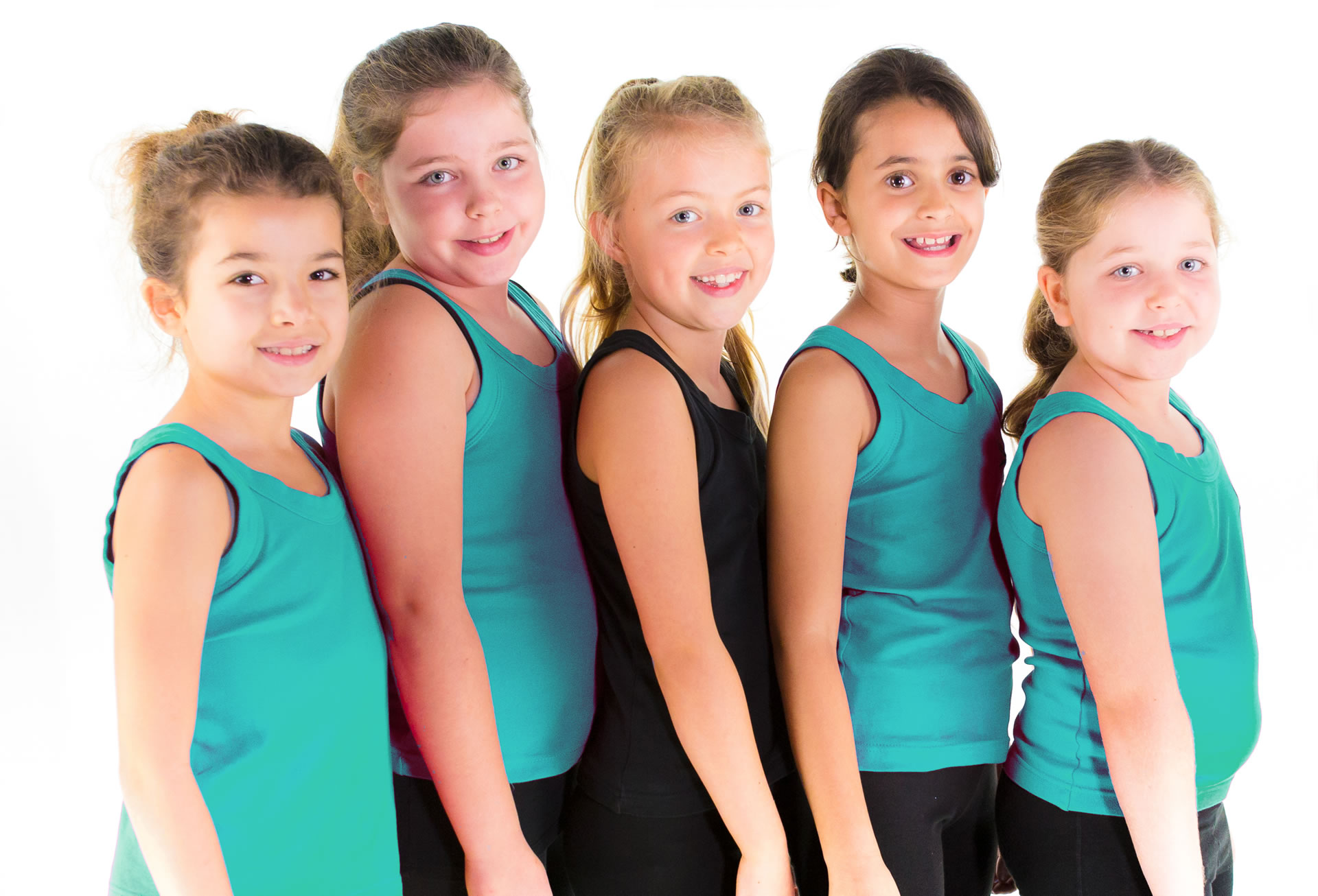 5 Girls ready to dance at Studio N Dance